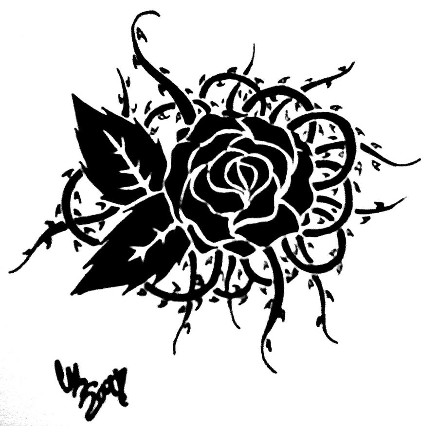 Tribal Rose and thorns by Carteraug21Tribal Thorns Tattoo