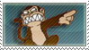 Evil Monkey Stamp by lockjavv