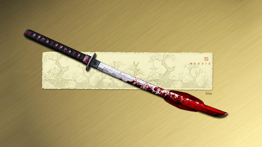 Bloody Katana by lockjavv