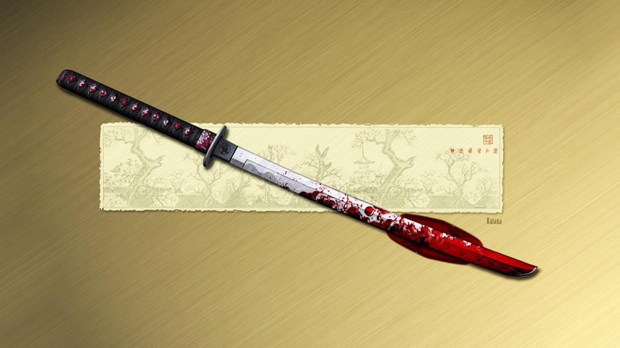 Bloody Katana by lockjavv
