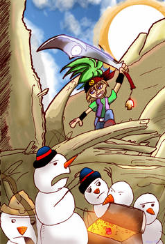 Pirate vs Tropical Snowmen