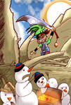 Pirate vs Tropical Snowmen by blackbeardpirate