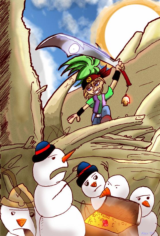 Pirate vs Tropical Snowmen