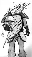 Skull Warrior of DOOM by blackbeardpirate