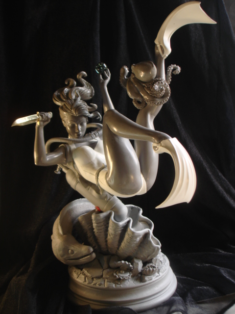 Pearl   pinup  sculpture 1 by rvbhal