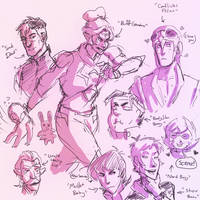 voltron sketches by irezel