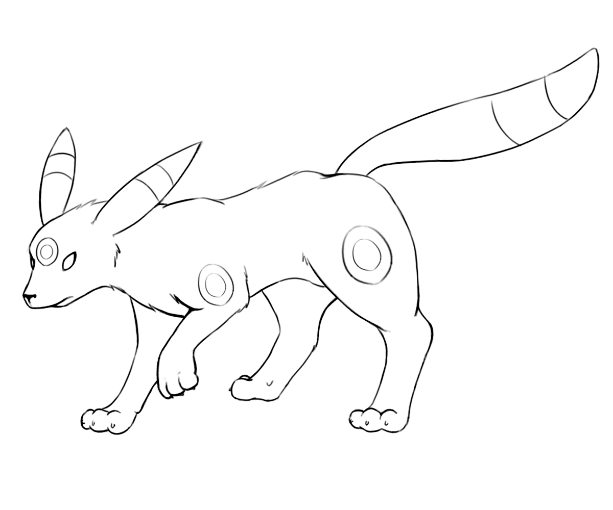 Umbreon Lineart by BevynJM on DeviantArt