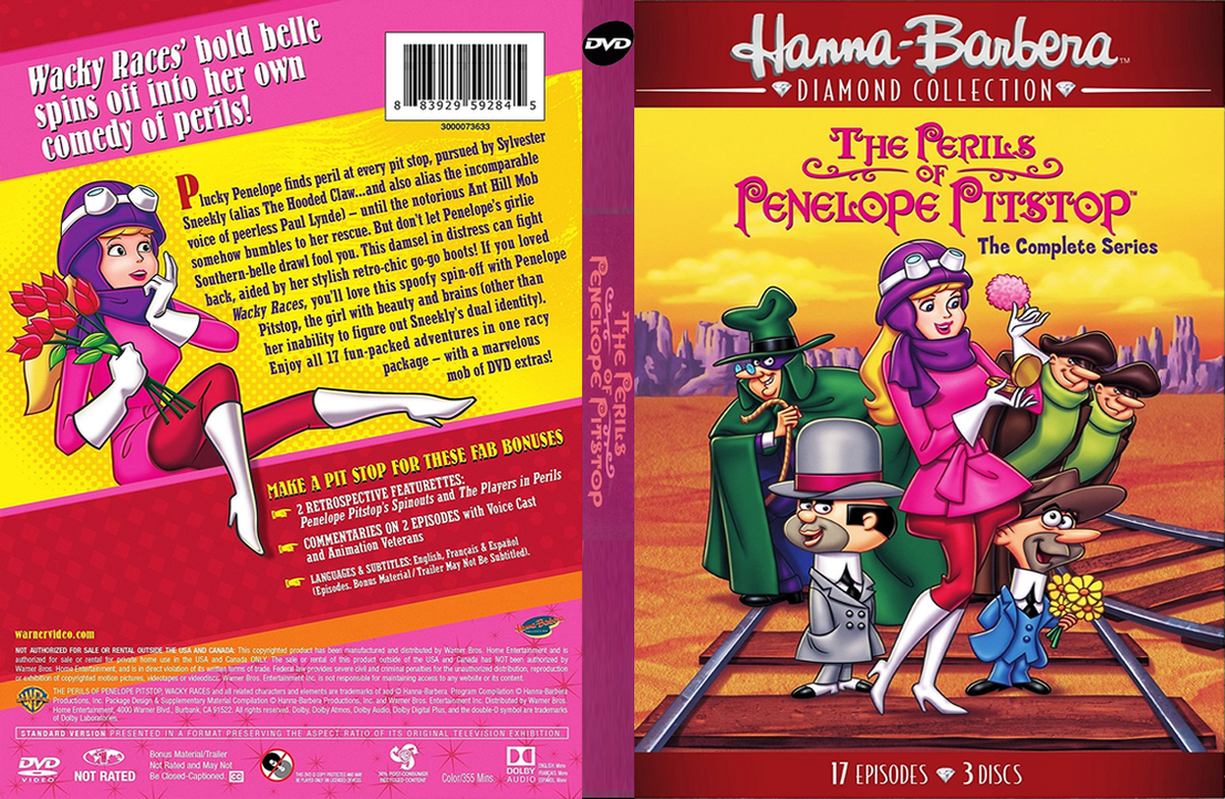 CUSTOM The Perils of Penelope Pitstop DVD Cover by SylentEcho88