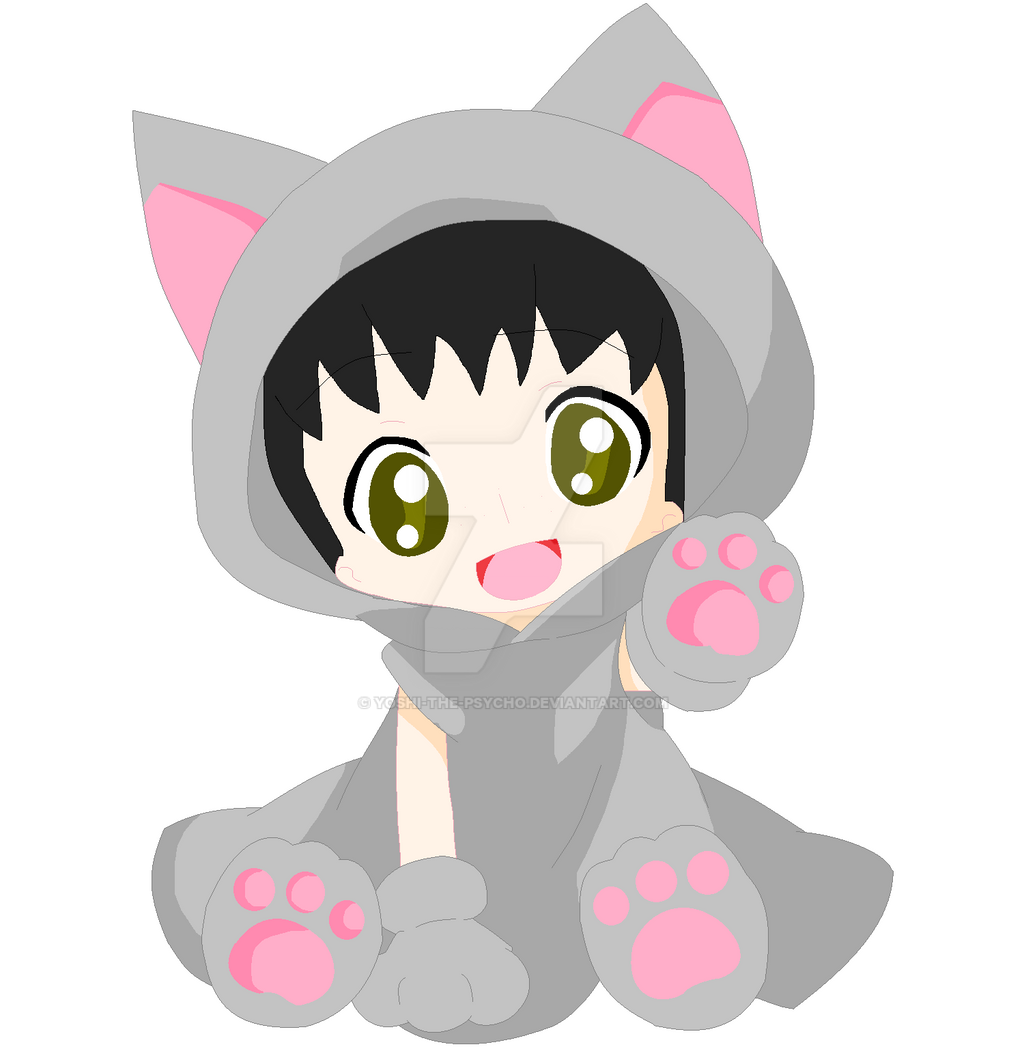 Kawaii Chibi Neko By Yoshi The Psycho On Deviantart