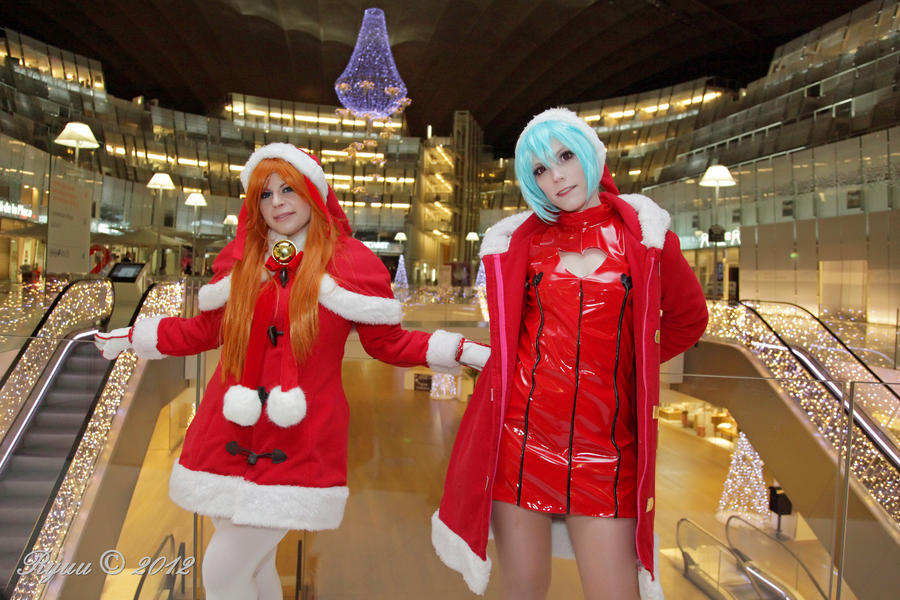 merry christmas asuka and rei (evangelion) by Nerine-ayalaure on ...