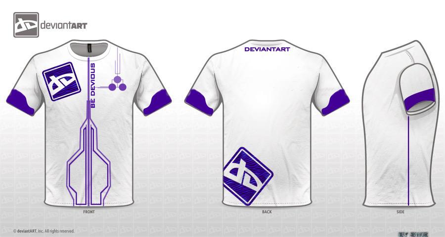 Da logo t shirt design by swizarts on deviantart for T shirt logos and design