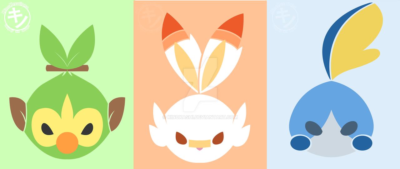 Pokemon Sword Shield Starter Designs By Kinokashi On Deviantart