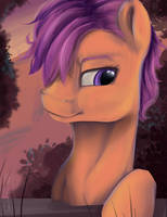 Scootaloo by Aelwyng