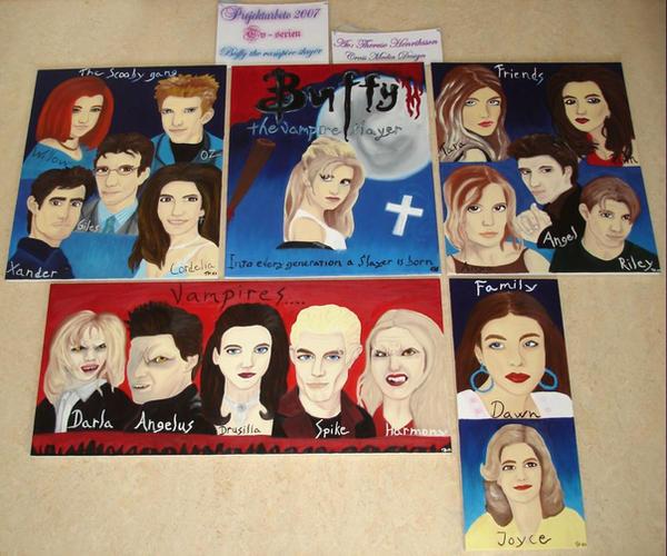Buffy the vampire slayer Group by Tdesignstudio