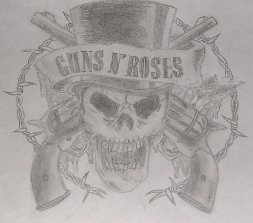 Guns N Roses Logo by withwhomilivalie