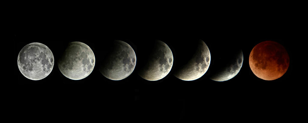 Super Blood Moon Lunar Eclipse by NadineSabbagh
