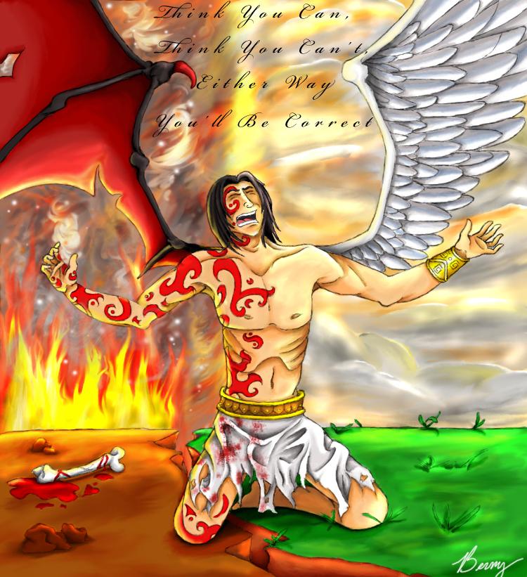 angel vs devil - 750×821