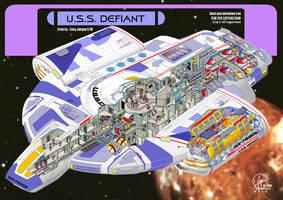 U.S.S. Defiant - inside by Paul-Muad-Dib