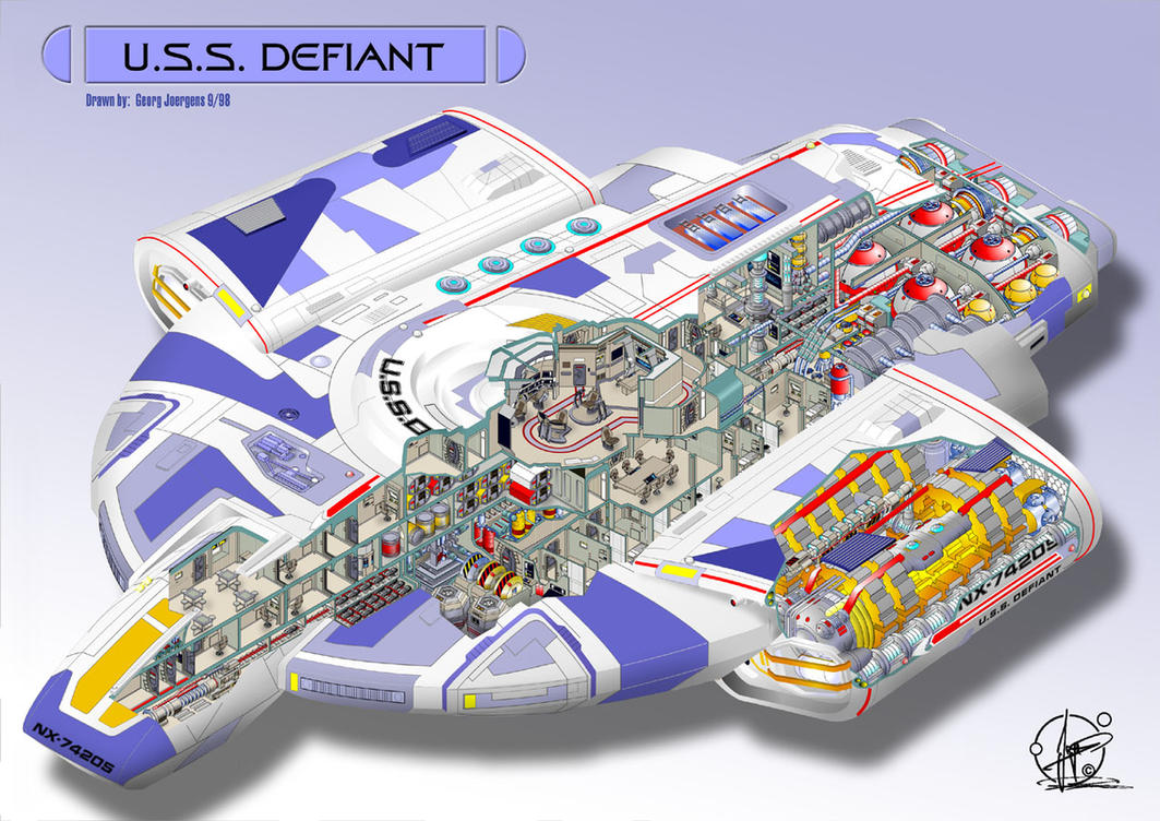 U.S.S. Defiant - cutaway by Paul-Muad-Dib