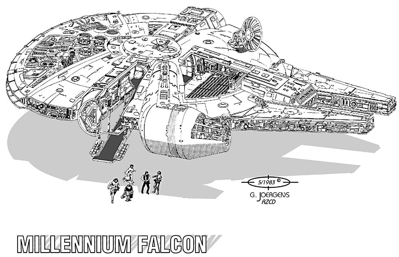 Millenium Falcon Coloring Coloring Pages