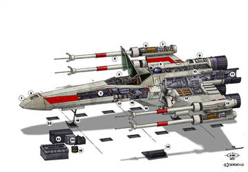 Star Wars T-65 X-Wing by Paul-Muad-Dib