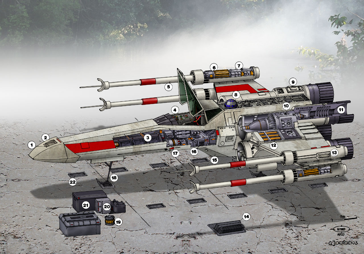 Star Wars T-65 X-Wing Fighter by Paul-Muad-Dib