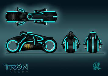 TRON - Light cycle by Paul-Muad-Dib