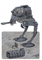 W.I.P. Star Wars At-ST by Paul-Muad-Dib