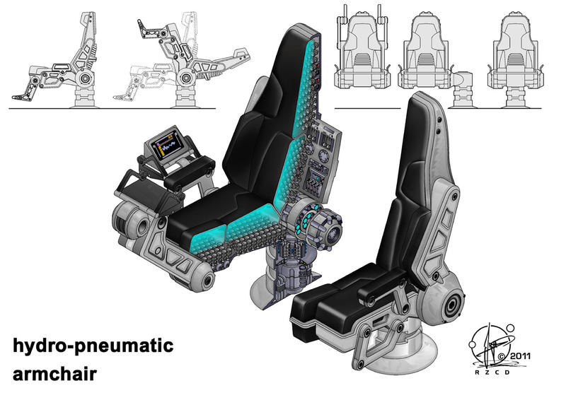 Hydro-pneumatic armchair by Paul-Muad-Dib