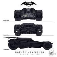 New Batmobil - Batman vs. Superman - Frontview by Paul-Muad-Dib