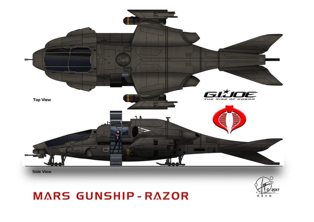Gunship Razor Landingmode top view by Paul-Muad-Dib