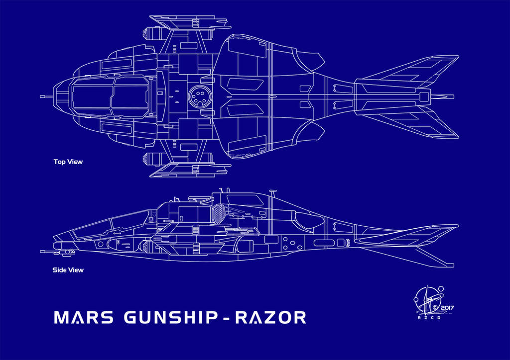 Blueprint Gunship Razor Flightmode by Paul-Muad-Dib