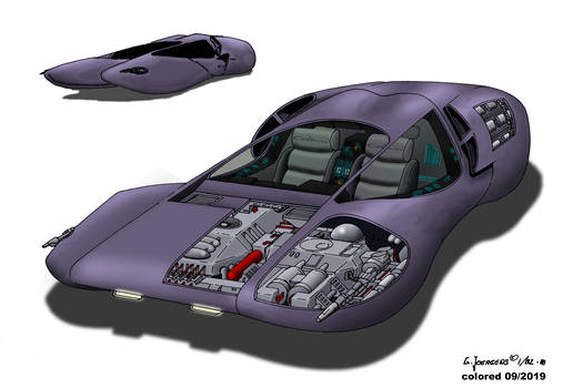 Hover car - Homage to Luigi Colani