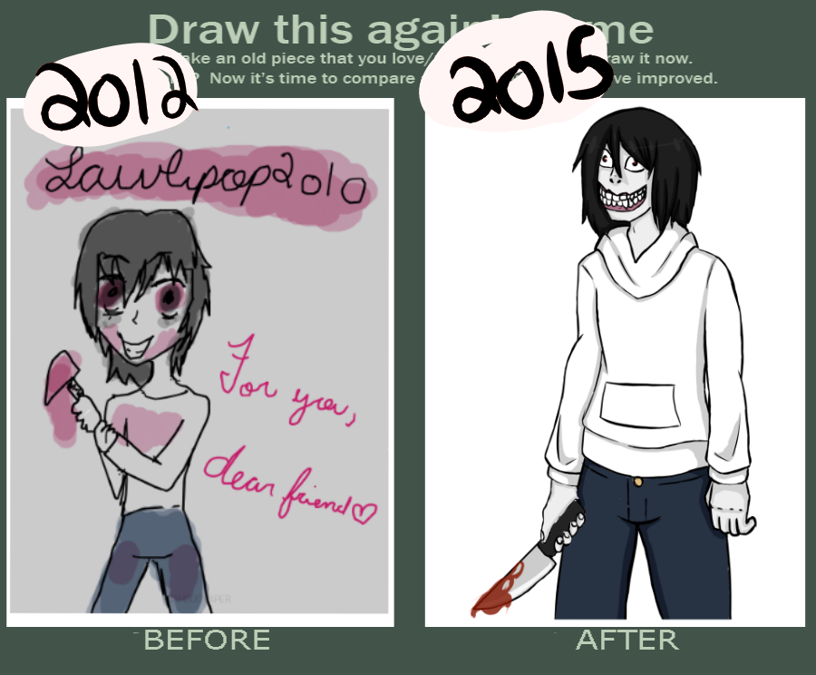 draw this again meme jeff the killer by doodledonutt on