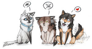 Yuki, Saidy and Shika as CHIBIS by SaidyWolf