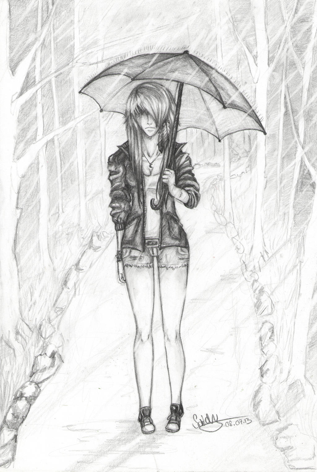Standing in the Rain by SaidyWolf on DeviantArt