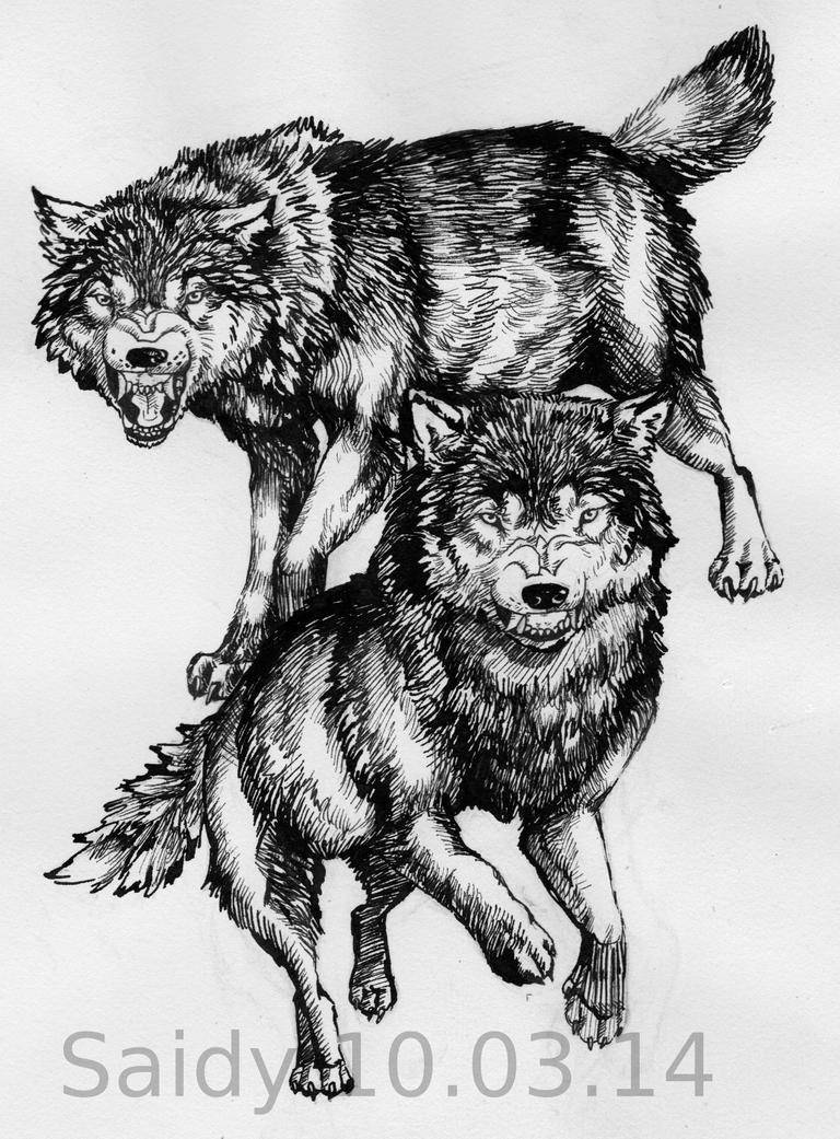 wolf tattoo design by saidywolf on deviantart. Black Bedroom Furniture Sets. Home Design Ideas