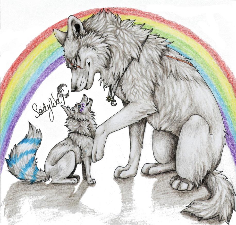 Soran and Sapphire by SaidyWolf