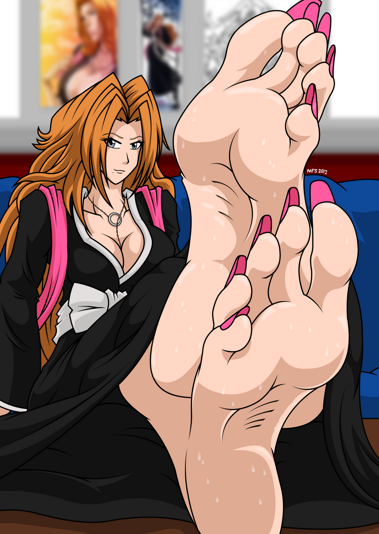Bleach hentai feet assfucking