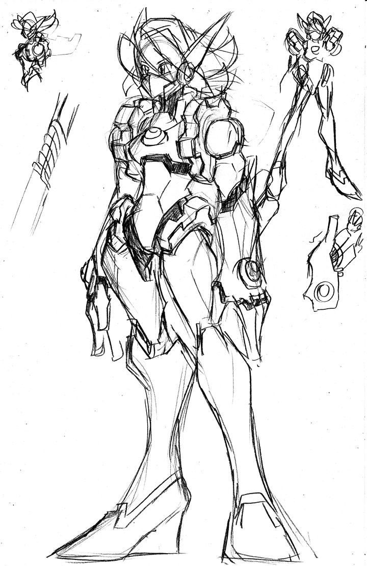 SKETCHED: Gearmon Concept V03 by MostlyFunStuff
