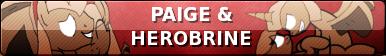 Paige + Herobrine Ponies Button by SchattenspielKat