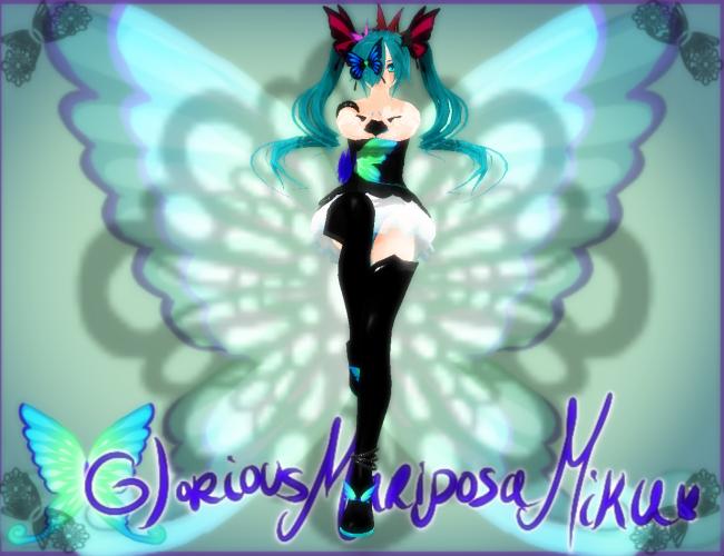 Glorious Mariposa Miku MonteKIO DOWNLOAD by Arleedraw