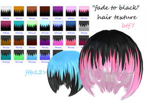 Fade to black hair texture