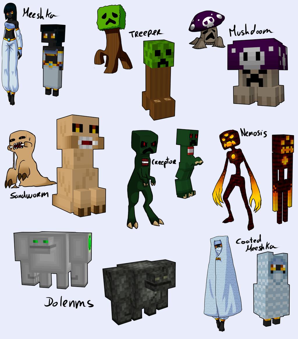 all my minecraft handmade models by arlymone on deviantart