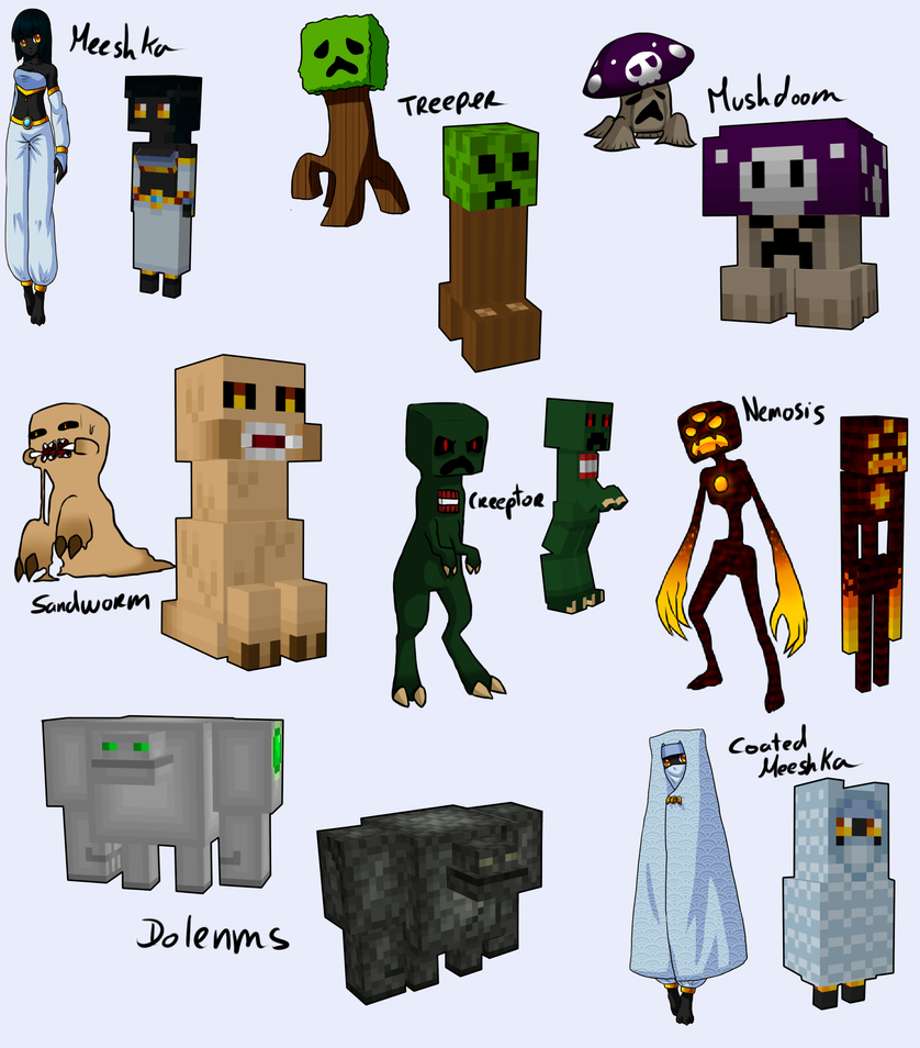 All My Minecraft handmade models by Arleedraw on DeviantArt for All Minecraft Characters  110zmd