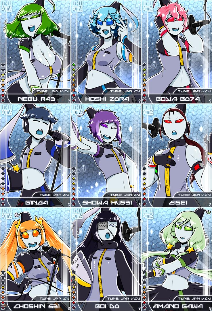 Uchuupoids Idol Cards by Arleedraw