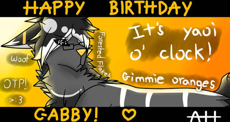 Happy (late) Birthday Gabby! .:Gift:. by keikai-chan