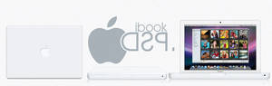Ibook white Psd + icon + Png