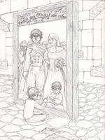 The Mirror of Erised - sketch by Maitia