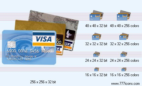 Credit cards Icon by phorago